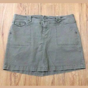 Torrid Green A-Line Cotton Stretch Skirt Size 16